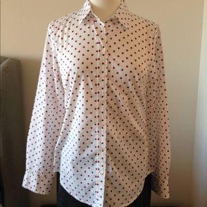 GAP Pink Polka Dot Shirt